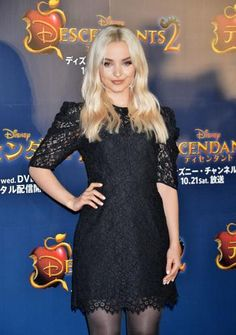 """Dove Cameron and Sofia Carson, stars of the Disney Channel's """"Descendants 2,"""" meet fans at the movie's event in Tokyo,… – @UPI Photo Gallery"""