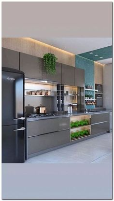 Luxury Kitchen Remodel with Gray Cabinet and Black Marble Countertop Secrets - homesuka Kitchen Room Design, Luxury Kitchen Design, Contemporary Kitchen Design, Kitchen Cabinet Design, Home Decor Kitchen, Interior Design Kitchen, Home Design, Kitchen Ideas, Kitchen Tips