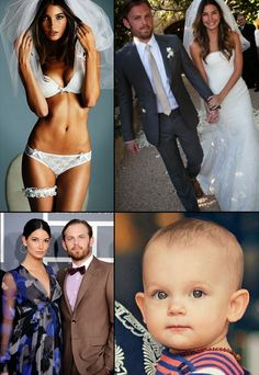 Caleb Followill, Lily Aldridge and Dixie Pearl