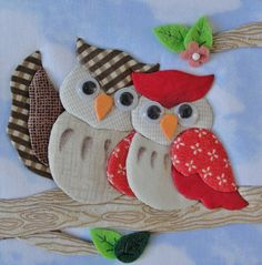 Heavy Chain Stitch in Hand Embroidery (Step By Step & Video Applique Embroidery Designs, Machine Embroidery Applique, Applique Patterns, Quilt Patterns, Hand Embroidery, Patch Quilt, Owl Crafts, Flower Crafts, Sewing Crafts