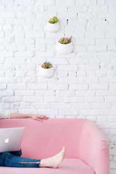 DIY wall planters |