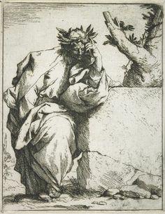 Jusepe de Ribera Spanish (Játiva, Valencia 1591 - 1652 Naples) The Poet | Harvard Art Museums