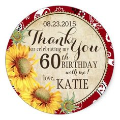 Country Sunflowers Rustic Thank You Label  sc 1 st  Pinterest & Fiesta Succulent Floral Birthday Party Invite | Pinterest | Rustic ...