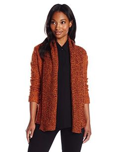 Allison Brittney Women's Long Sleeve Shawl Collar Cardigan Sweater, Brown - http://www.womansindex.com/allison-brittney-womens-long-sleeve-shawl-collar-cardigan-sweater-brown/