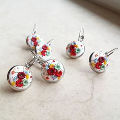 Colorful Summer Small Earrings Handmade by DZHandmadeProducts