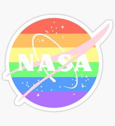 """Gay Pride Nasa Logo"" Stickers by gloomybabe | Redbubble"