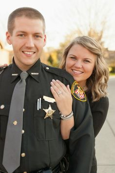 Here are our engagement pictures with Justin in Uniform!! Love them all!! I Stand beind the man that stands on the Thin Blue Line