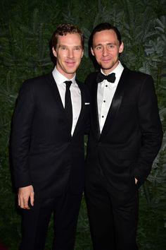 "torrilla: ""Tom Hiddleston and Benedict Cumberbatch attend the 60th London Evening Standard Theatre Awards at the London Palladium on November 30, 2014 in London, England [HQ] """