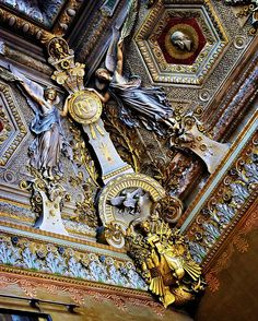 Techo en el Louvre
