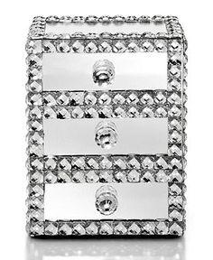 Mirrored Sparkle Jewelry Box - - Macy's Bridal and Wedding Registry Glass Jewelry Box, Jewelry Mirror, Jewelry Armoire, Jewelry Chest, Jewelry Cabinet, Jewellery Storage, Jewelry Organization, Jewellery Box, Jewlery