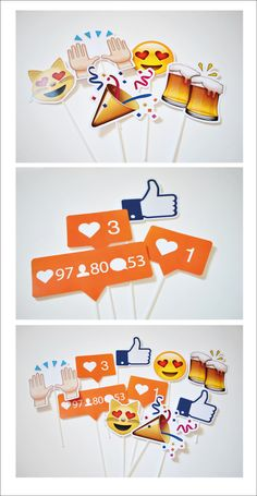 More props if we go with the Photo booth social media idea 13th Birthday Parties, 21st Birthday, Animation Photo, Pyjamas Party, Instagram Party, Instagram Birthday Party, Instagram Photo Booth, Facebook Instagram, Accessoires Photo
