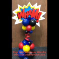 Superhero Party Decorations, Balloon Decorations, Columns, Birthday Candles, Balloons, Centerpieces, Wreaths, Baby, Ideas