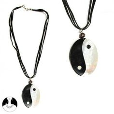 SG Paris Neck 45cm Shell Sued Ying Yang Black and White Noir Et Blanc Necklace Necklace Shell Winter Women Pacific Mermaid Fashion Jewelry / Hair Accessories Yin and Yang SG Paris. $5.22