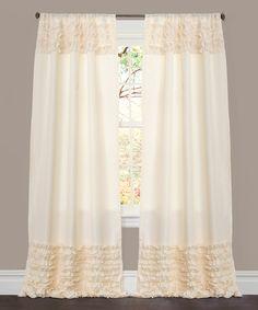 Ivory Skye Window Curtain Panel