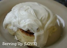 Awesomely delicious Cinnamon Roll Frosting - a little tip that will forever change how you make the frosting!