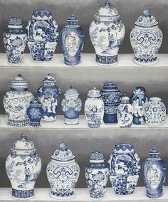 blue & white chinoiserie decor I want all of them :-)