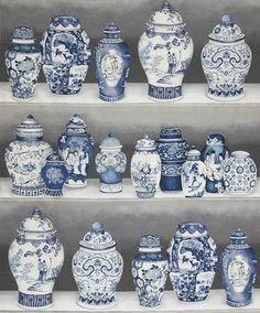 blue & white chinoiserie decor                      my old  kitchen wallpaper