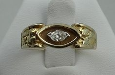 One Only 14k Yellow Gold Nugget Style Diamond by rubylanejewelers