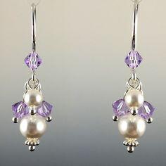 Swarovski Crystal & Sterling Silver Short Cluster Earrings