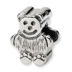 Sterling Reflections Kids Bear Bead, Women's