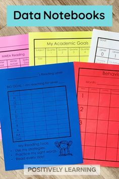 Student Data Notebooks - a HUGE resource of data tracking sheets for both students AND teachers. From Positively Learning #studentdatanotebooks #datatracking #datanotebooks