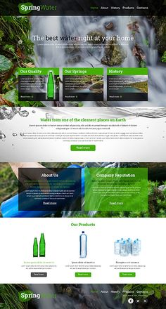 Template 50518 - Spring Water  Responsive Website Template