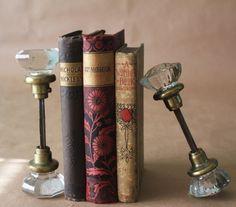 Vintage Glass Doorknob Bookends.
