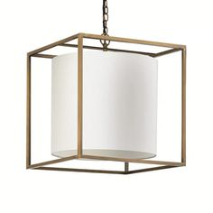 Large Pendant Lighting, Ceiling Pendant, Ceiling Lights, Lighting Manufacturers, Traditional Interior, Drum Shade, Home Lighting, Antique Brass, Cube
