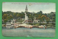 Wharves Ferry Landing Big Island Park Lake Minnetonka Minnesota Postcard