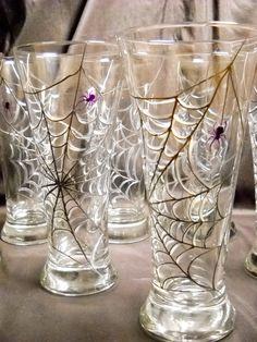 Painted Pilsner Glassware