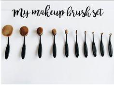 brush set My Makeup Brush Set, Makeup Brushes, Bobby Pins, Hair Accessories, Blog, Fashion, User Guide, Brush Pen, Moda