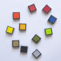 Chroma Ink Pad Set - Red/Yellow/Green/Blue - product images  of