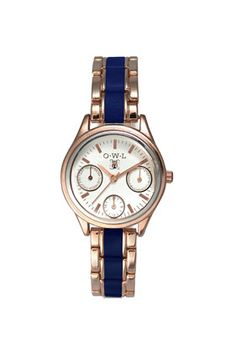**Owl Topshop Exclusive Rose Gold and Navy Watch - New In This Week  - New In