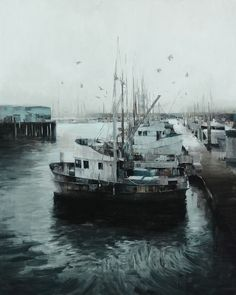 "Kim Cogan, Harbor, 60"" X 48"", oil on canvas"