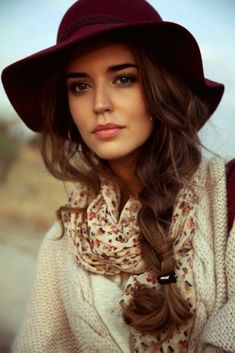 side braid under your hat
