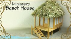 Hi guys! Today we're making this miniature Beach House :D I made this in 1:24…
