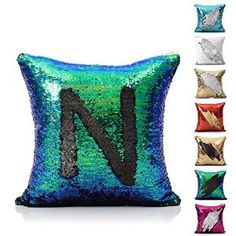 Amazon.com: 18 Inch Mermaid Europe Luxurious Sequin Pillow Cover (Mermaid Tail): Home & Kitchen