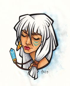 Atlantis: The Lost Empire Fan Art: Kida Disney Animation, Disney Pixar, Kida Disney, Disney Hair, Disney And Dreamworks, Walt Disney, Disney Characters, Princess Kida, Disney Princess Art