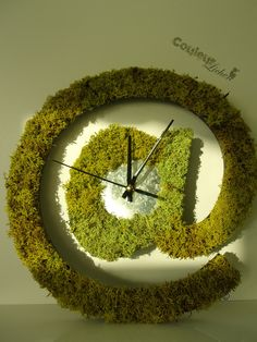 Items similar to The clock! Interior wall decoration, vegetated clock will dress up your office, living room on Etsy Handmade Gifts, Unique Gifts, Moss Wall Art, Interior Walls, Decoration, Unique Jewelry, Creations, Wall Decor, Clock