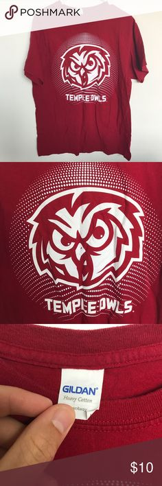 Temple owls tee shirt Goldman Sz large in mens Sz large in mens. Gildan.  Great shape. Check out my other items! Gildan Shirts Tees - Short Sleeve