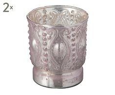 """Komplet 2 świeczników na tealighty """"Blush II"""", Ø 9, wys. 10 cm"""