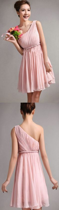 Short Bridesmaid Dresses, A-line Homecoming Dresses, Pink Homecoming Dresses, Sleeveless Bridesmaid Dresses, Short Homecoming Dresses, Pink Bridesmaid Dresses, Short Bridesmaid Dresses, Custom Made Dresses, Homecoming Dresses Short, Bridesmaid Dresses Short, Short Pink dresses, Pink Short dresses, Pink Mini dresses