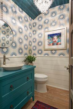 powder bathroom   Fiddlehead Design Group
