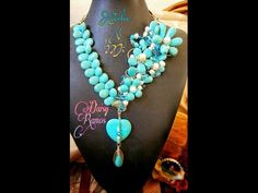 Espectacular Maxi Collar Turquesas y Perlas DIY - YouTube