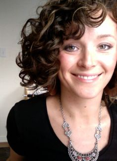 Short curly hair // I was inspired to post a picture of my short curly hair by a fellow pinner. It can be done.