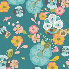 Bari J. Ackerman - Emmy Grace Voile - Floral Floats Voile in Fresh FOR GERANIUM DRESS - USE WITH Gold solid fabric
