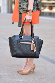 Classic bag with pops of color #falltrends #Marshalls