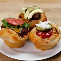 "Cheeseburger Cups: this would be a much easier way to cook ""cheeseburgers"" in bulk AND kinda fun!"
