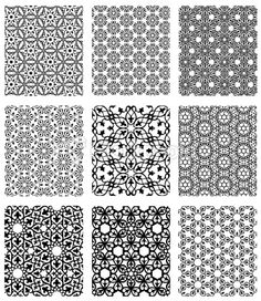 more examples of Islamic inspired/origin patterns.