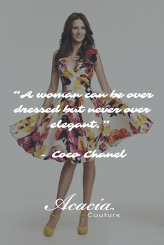 """A woman can be over dressed but never over elegant."" - Coco Chanel #inspirational #motivational #positive #happiness #quote #QOTD #transformation #success #living #wisdom #hope #life #fashion #trends #style #liveyourlife #passion #dreambig #lifequotes #wordofwisdom #instaquote http://goo.gl/U1Fo9S"